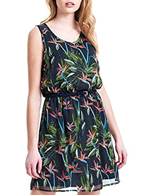 ONLY Women's Onllia Lace S/L Aop Wvn Dress