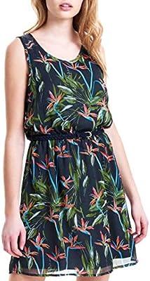 Only Onllia Lace S/L Aop Dress Wvn, Vestido para Mujer