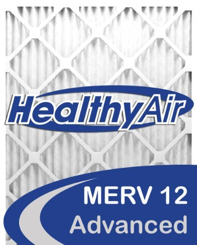 Healthy Air 16x24x1 MERV 12 Pleated Furnace Air Filter, Box of 6 by Healthy Air (12x24x1 Air Filter)