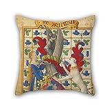 slimmingpiggy Überwurf Kissen Fall von Ölgemälde Jean Fouquet (Französisch, Born über 1415–1420, starb vor 1481)–Wappen Held, von einer Frau und A Greyhound 45,7x 45,7cm/45von 45cm, beste Passform