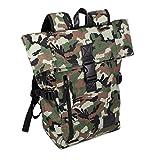 Harold`s Camouflage Unisex Freizeit-Reise-Schul-Rucksack Outdoor Backpack Sport-Tasche Daypack Bag Army-Grün