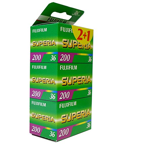 Fuji Superia 200 Film (à 36 Bilder, 3er Pack)