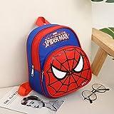 RosewineC Sac à Dos d'école Spiderman Captain America Batman pour garçons et Enfants Super Hero 3