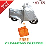 #7: FABTEC Silver Bike Cover with FREE Cleaning Duster For Activa 4G