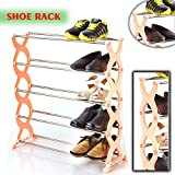 Shopo's Adjustable 5 Layer Shoes Organizer Storage Rack Shelf