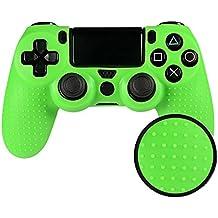 eXtremeRate PS4 Controller Hülle Schutzhülle Anti-Rutsch Weiche Silikon Case Tasche Skin für Sony Playstation 4 PS4/SLIM/PRO Controller(Grün)