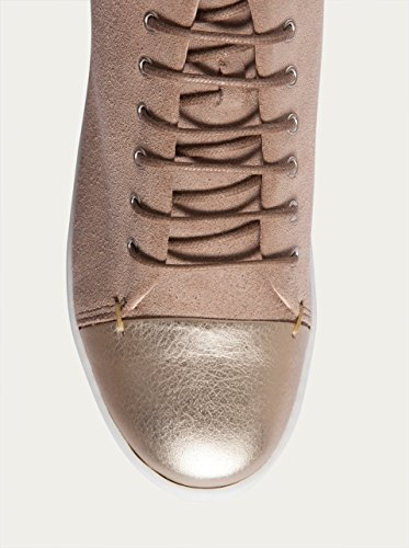 NOBRAND Chaussures hautes Femme Baskets loisirs chaussures-Or pale gold