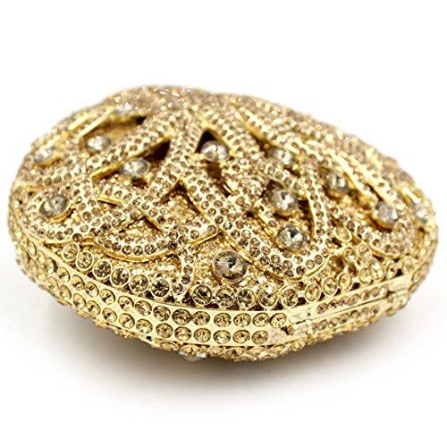 Santimon Clutch Delle Donne Carina Polipo Borsellini Strass Diamante Cristallo Borse Da Festa di Nozze Sera Con Tracolla Amovibile E Pacco Regalo 5 Colori oro
