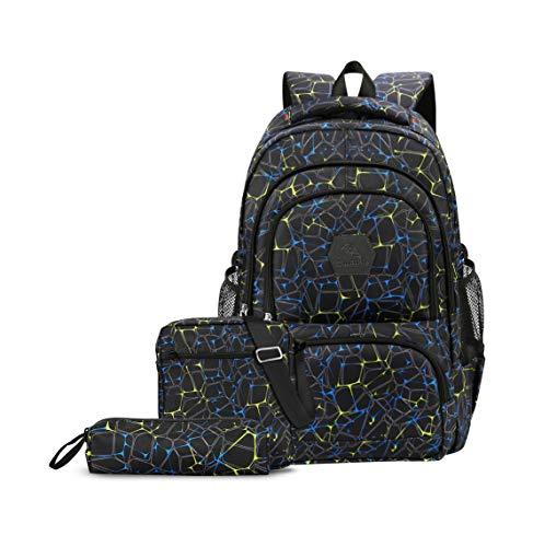 206f7ff3da2c6 CUIBIRD Schulrucksack Jungen Schultasche Jugendliche Nylon Rucksäcke Schule  Wasserfest Backpack Laptop Rucksack 15.6 Zoll Schulranzen 3