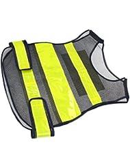 MagiDeal Chaleco de Seguridad de Buena Visibilidad para Ciclistas Topógrafos Guardias Fácil de Usar de Rayas Reflectantes
