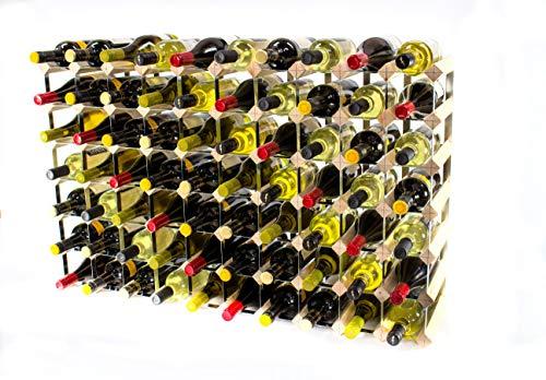 Cranville wine racks Klassisch 70 Flasche Kiefernholz und verzinktem Metall Weinregal fertig montiert