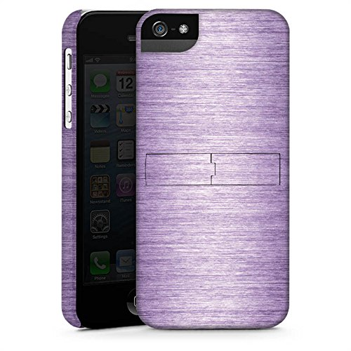 Apple iPhone X Silikon Hülle Case Schutzhülle Metal Look Lavender Metall Lila Premium Case StandUp