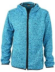 James & Nicholson Herren Sweatshirt Fleece Men's Knitted Fleece Hoody