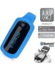 Dexford Schrittzähler - Podómetro, color azul, talla standard