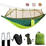 Oleein Camping Hammock with Mosquito Net Outdoor Travel Hammocks for Camping Hiking Backpacking