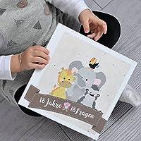 18 Fragen - 18 Jahre - Erinnerungsalbum - Babybuch