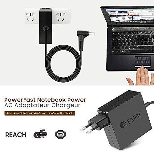TAIFU 19V 1,75A / 2,37A adaptador de CA para Asus VivoBook S200E-CT158H AD891M21 S200E-CT216H S200E-CT157H cargador, Power Charger for Asus X453m X453MA F553M X553MA D553MA 15.6 Laptop fuente de alimentación, ASUS Chromebook C200 / C200MA-DS01, C202 C300 / C300MA, ASUS VivoBook X200MA, X200M, X200MA-RCLT08,X200CA,X200CA-DB01T, X200CA-DB02, X102B,X102BA,X102BA-BH41T,X200L,X200LA S200E,X201E,S220,Asus Zenbook UX21A,UX31A,UX32ACordón corriente de la EU