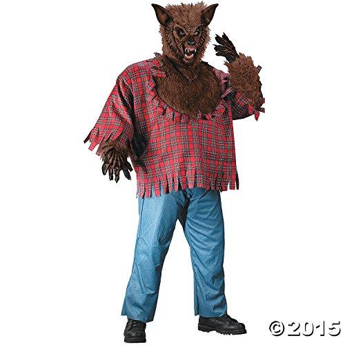 Werwolf braun plus Größe Kostüm für menmen 's Plus