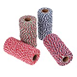 Healifty Natural Cotton Braided Rope Double Color for DIY Wall Hanger Arts Craft...