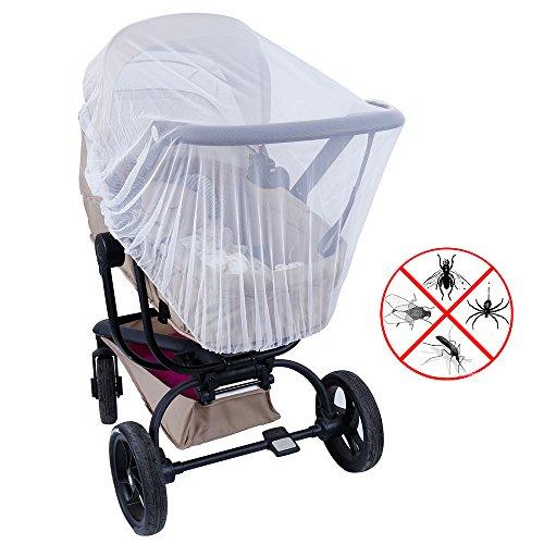 Lictin Insektenschutz Moskitonetz für Kinderwagen Schutz vor Moskito Insekt, Weiß, 57 inch