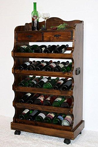 Massivholz Weinregal Flaschenregal 30 Flaschen Holz Fichte massiv kolonial