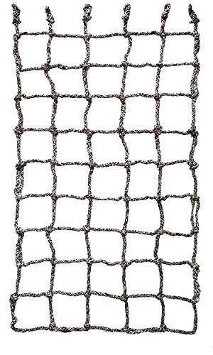 Aoneky Kletternetz Kinder, Freiensport-Entwicklungstraining Krabbelnetzwand-Schutznetz-Spielplatz-Ausrüstung, Gepäcknetz für Klettern, Outdoor & Indoor, 1 x 1.6m