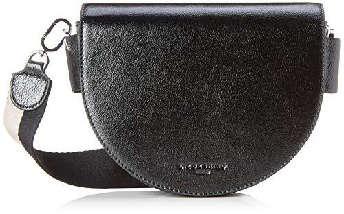 Gestreifte Damen Handtasche (Liebeskind Berlin Damen Mixedbag Medium Crossbody Umhängetasche, Schwarz (Black), 6.0x20.0x27.0 cm)