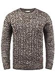 !Solid Philemon Herren Winter Pullover Strickpullover Grobstrick Pullover Zopfstrick mit Rundhalsausschnitt, Größe:XXL, Farbe:Coffee Bean (5973)
