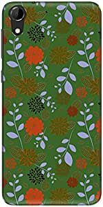 The Racoon Grip printed designer hard back mobile phone case cover for HTC Desire 728. (Green Craz)