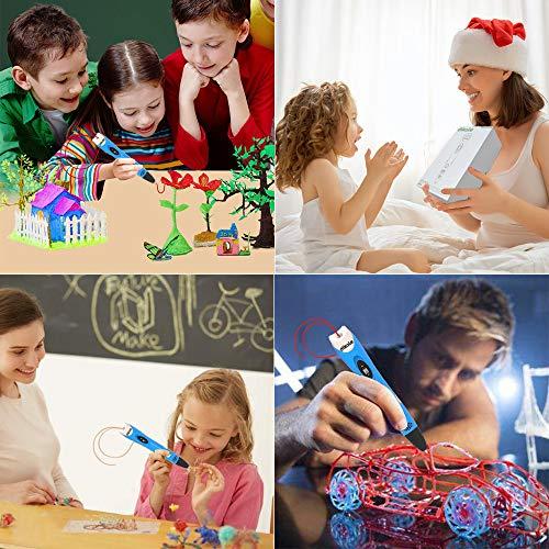 3D Stifte Set für Kinder mit PLA Filament 12 Farben -【Neueste Version 2018】3D Stifte mit PLA Farben 120 Fuß und 250 Schablonen eBook, Dikale 07A 3D Pen als kreatives Geschenk für Erwachsene, Bastler zu kritzeleien, basteln, malen und 3D drücken - 5