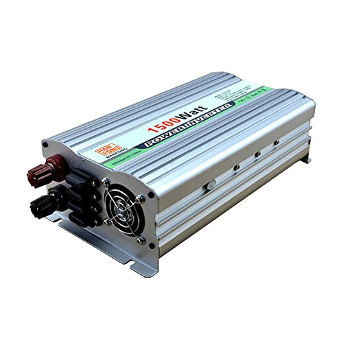 Spannungswandler BQ Power Inverter 1500 W DC 12V zu AC 220V Transformator Auto Zigarettenanzünder 2 USB Auto Ladegerät (Silber)