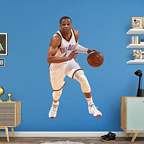 NBA Oklahoma City Thunder Russell Westbrook 2015-2016 Real Big Photo by Fathead Peel and Stick Decals