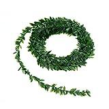 WINOMO Blätter Girland 7.5m Künstliche Laub Efeu Deko/ grüne Rebe Pflanz für Hochzeit Party Zeremonie DIY Handwerk