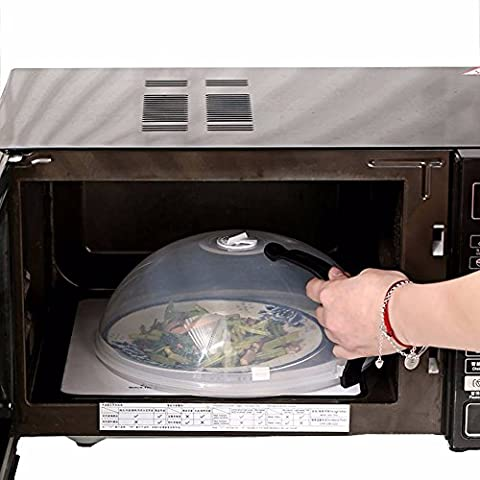 JIASTONE BPA Free 26*10.5cm Microwave Plate Food Dish Cover with Air Steam Vent Food Lid with