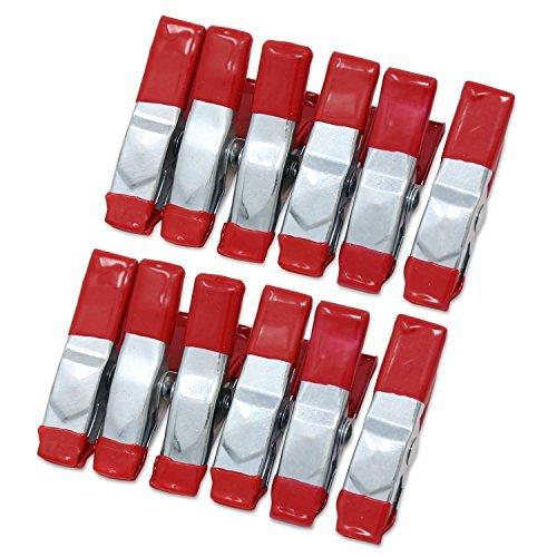 ESUMIC® 12PCS 2Inch Metallfeder-Klemmen Gummi überzogener Spitze-Griff-Halter für kampierendes Plane - Klemme