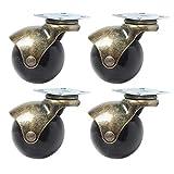 Jian Ya na 4Ball Caster Rad aussuchen drehbar Antik Drehgelenk Teller Metall Ball geformte Bremse Heavy Duty mit Kapuze für Schreibtisch Stuhl Kaffee Tisch Spielzeug Schuhe Mülleimer Möbel Beine