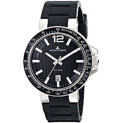 Jacques Lemans Men's Quartz Watch Milano 1-1695A with Rubber Strap
