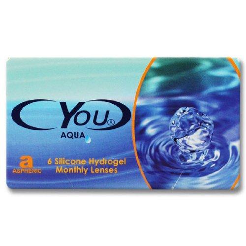 Cyou Aqua Monatslinsen weich, 6 Stück / BC 8.5 mm / DIA 14.5 / -0,25 Dioptrien