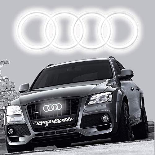 Motorfox Ringe LED Kuhlegril Emblem Leuchtende Ringe Logo Tagfahrlicht A1 A3 A4 A5 A6