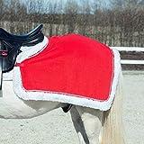 Nierendecke Fleecedecke Ausreitdecke Weihnachtsdecke rot mit Glitzer Pony Full, Groesse:FULL