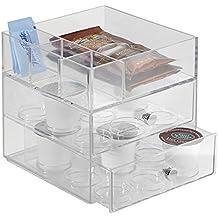 mDesign porta capsule caffè per dispensa cucina–per fino a 18capsule, colore: trasparente