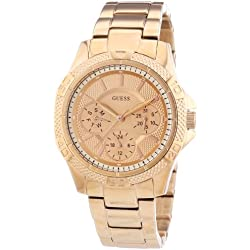 Guess Women's Quartz Watch Analogue Display and Stainless Steel Strap W0235L3