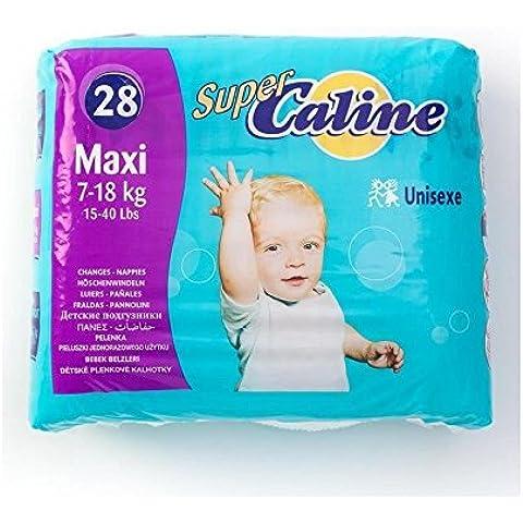 Super Caline Maxi Unisex 28 Per Confezione - Confezione da 2