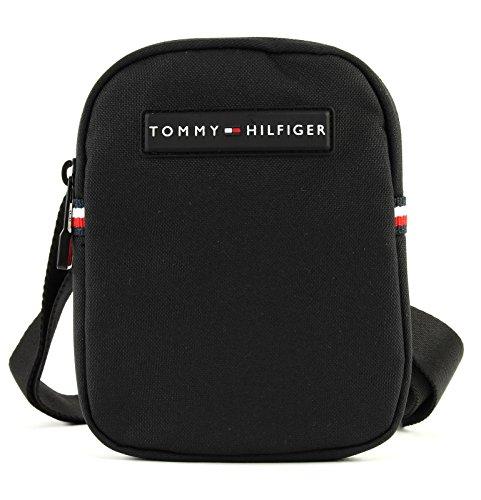 Tommy Hilfiger Herren Tommy Compact Crossover Laptop Tasche, Schwarz (Black), 2x17x13 cm