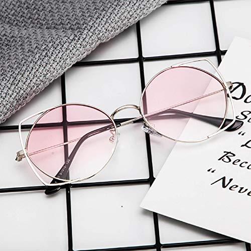 Koojawind Sonnenbrillen Cat Eye Verspiegelte Flache Linsen Metallrahmen Sonnenbrillen, Schutz Uv Klassische Designer Sonnenbrillen Mode-Stil, Unisex, MäNner, Frauen Kinder