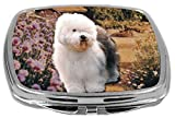 Rikki Knight Compact Mirror, Old English Sheepdog