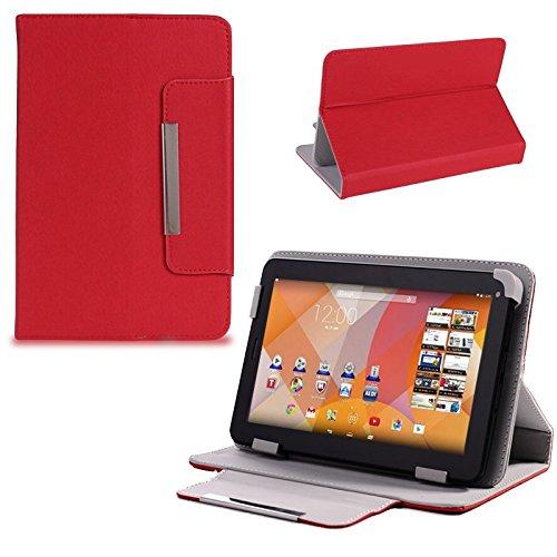Schutz Tasche f Medion Lifetab S7322 Junior Tablet Hülle Schutzhülle Cover Case , Farben:Rot