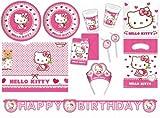 Procos 412275 Kinderpartyset Hello Kitty Hearts, Größe XXL