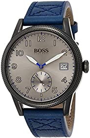 Hugo Boss Mens Quartz Watch, Chronograph Display and Leather Strap 1513684