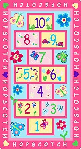 GRENSS Tapete Kinderzimmer Teppich rosa Fee Mädchen Teppiche Cute Cartoon Baby krabbeln Mat Kinder Teppiche für Haus Wohnzimmer Schlafzimmer